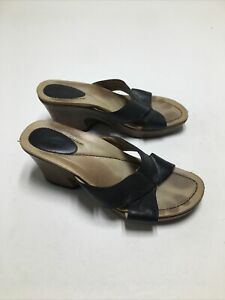Dansko Black Leather Formal Sandals Heels1004027800 Women's Size 39