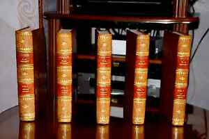 VIE DE MOZART 5 livres rares en cuir dos 4 nerfs in 4 POUR COLLECTION