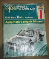 1989-1998 Dodge Spirit & Plymouth Acclaim Repair Manual
