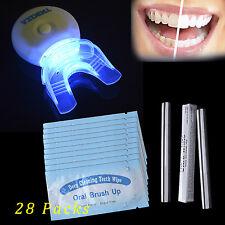 Oral Whiter Faster Plasma LED Light+20*Brush Up Wipes+2*Teeth Whitening Gel Pen