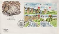 First Day Cover Industrial Archaeology marked New Lanark 1989