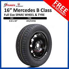 "16"" Mercedes B Class 2011-2014 FULL SIZE STEEL SPARE WHEEL & TYRE  205/55R16"