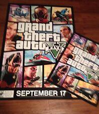 2- Grand Theft Auto V - Huge 48x33 And 28x22 Promo Posters - Rare Ps4,Xboxone
