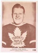 1940-41 O-Pee-Chee V301-2 Walter Turk Broda # 108 Toronto Maple Leafs 5 x 7 card