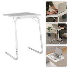 Portable Mate Adjustable Folding Table Tv Dinner Laptop Desk Sofa Bed Lounge