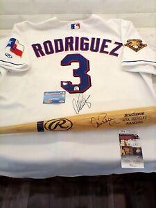 Alex Rodriguez AUTHENTIC MLB Game-Issued Autographed Jersey & Bat! JSA & MLB COA