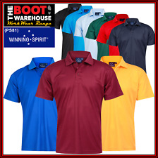 Men's Verve 'CoolDry' Polo Shirts. Solid Colours. Work. Casual. Sport. (PS81)