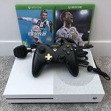 Microsoft Xbox One S 500GB Console, PowerA Wired Controller, Leads, Fifa 18 & 19
