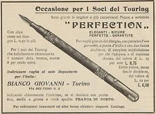 Z1383 Penne con pennino d'oro PERFECTION - Pubblicità d'epoca - 1909 Old advert