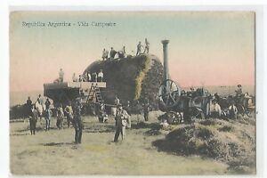 Postcard Argentina, Vida Campestre,Machine Agricultural,Harvester