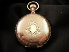 WALTHAM - 14K Gold Filled Hunting Case Antique Pocket Watch 6 Size - MUST SEE !!