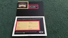 """2001 / 2002 BMW MINI """"MOVING?"""" - COLOUR REPLY PAID CARD MAILER - UK BROCHURE"""