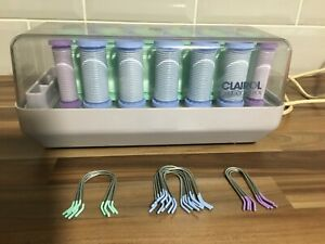 Vintage Clairol Curlers Heated Hair 20 Rollers With Pins Tested Working