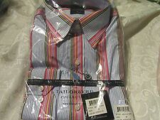 Red, Blue, Purple Striped 1930 Tailorbyrd Collection in Sizes L or XL
