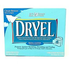 New Dryel Clean Breeze 6 Refill Cloths Discontinued Dry Cleaning