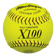 "MacGregor® 11"" .44/375 X44Rp Asa® Slow Pitch Sofball - 1 Dozen"