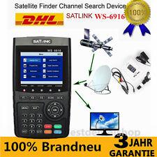 DHL 2017 Profi Satfinder Satlink WS-6916 DVB-S/S2 HD Sat Messgerät DVB Digital