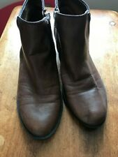 Madden Girl-Brown Leather Booties-Size 6