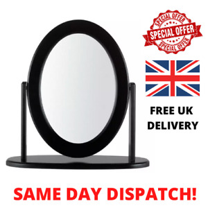 Bedroom Oval Round Dressing Room Table Mirror Black Free Standing - HOME DECOR!