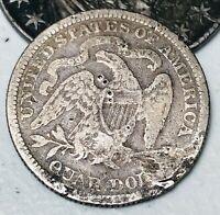1876 Seated Liberty Quarter 25C High Grade Details Centennial Silver Coin CC3248