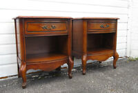 French Cherry Pair of Nightstands Side End Tables 1530