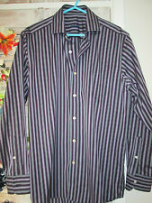 """Mens Savile Row Company London Long Sleeved Buttoned Casual Shirt Size M (15.5"""")"""