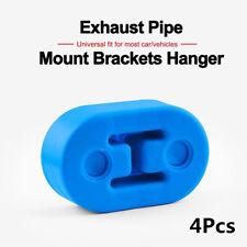4X Polyurethane Car Truck SUV Muffler Exhaust Hanger Hangers Blue 12mm Diameter