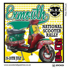 2013 EXMOUTH SCOOTER RALLY RUN  PATCH MODS SKINHEADS not PADDY SMITH