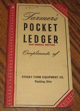 1949-1950 John Deere Farmers Pocket Ledger STUCKY FARM EQUIPMENT PAULDING OH  83