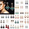 Damen Ohrring Elegante Strass Kristall Ohrschmuck Ohrhänger Geschenk Modeschmuck