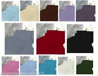 Luxary Plain Pollycotton Percal Flat Sheet Single,Double,King S. king Free post