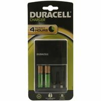 NEW DURACELL PLUG-IN BATTERY CHARGER WITH 2X AA BATTERIES - S514 BEST QUALITY