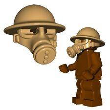 Lego WW2 Helmet + Gas Mask British army Military soldiers Brickwarriors minifig