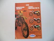 advertising Pubblicità 1979 MOTO SWM 125 REGOLARITA'/TRIAL/CROSS 250