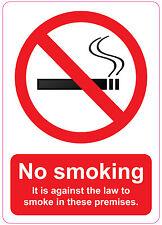 148 x 210mm NO SMOKING - ES CONTRA LA LEY Tienda/Mini Bus/Pegatina Para Coche