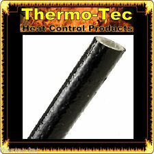 25.4mm x 1.2m Fire Flex Fiberglass Silicone Protective Heat Shield Sleeve -Black