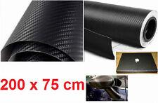 Rotolo adesivo carbonio Nero 200x75.Carbon.Cover auto,moto,scooter.Grande,2 m