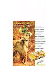 PUBLICITE ADVERTISING 1999 SOLO  ITALIA  ANANAMISU  recette du tiramisu