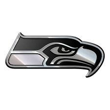Seattle Seahawks Heavy-Duty Metal Auto Emblem [NEW] NFL Chrome Car Decal CDG