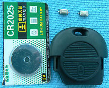 FOR Nissan 2 BUTTON Remote Key Fob Case REPAIR KIT Battery Micro switch Micra