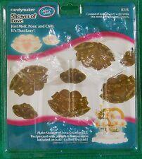 Craft Supplies Candy Lollipop Soap Plastic Mold Love Wedding Bells Shower