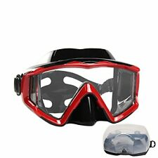 Diving mask Anti-Fog Swimming Snorkel mask Suitable for Adults Scuba Dive red