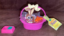 Vintage Littlest Pet Shop Bunny Rabbit Ready to Go Pets Kenner Complete Set 1992