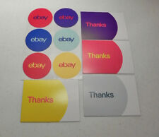 "Ebay Branded Thank You Postcards 5.5"" x 4"" and 3"" Round Stickers Lot of 20 Each"