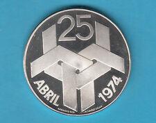PORTOGALLO PORTUGAL 250 ESCUDOS DEL 1974 PROOF ARGENTO SILVER IN CAPSULA