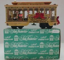 Vintage Music Box Wooden Cable Car Powell & Hyde Sts San Francisco Christmas