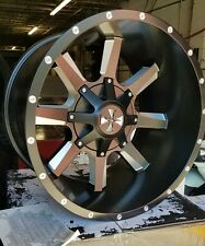 "20"" x12 Cali Offroad Busted - 9100SB Black 8x6.5/8x170 -44 ET 9100-2276M Rims W"