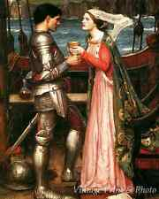 Tristan and Isolde by John William Waterhouse - Art Love Story 8x10 Print 0760