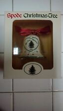Spode Christmas Tree Ornament 2001 Bell Our First Christmas
