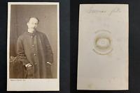 Bayard, Paris, Alexandre Dumas fils Vintage albumen print, CDV.Alexandre Dumas